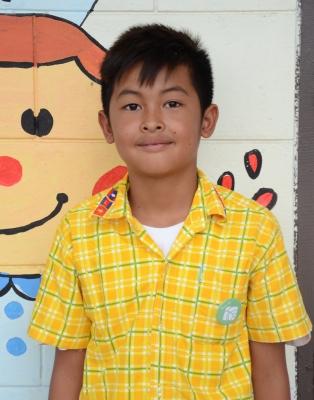 เด็กชายวิญญู อนุสุเรนท์ นักเรียนชั้นป.5 โรงเรียนบ้านโนนม่วง