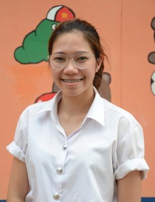 นางสาววิริยา กาญจนสอน นักศึกษาชั้นปีที่ 1 สาขาศิลปะการละคร คณะศิลปกรรมศาสตร์ มหาวิทยาลัยขอนแก่น