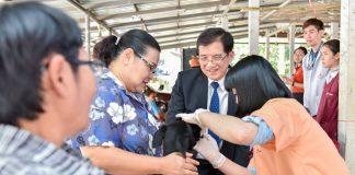 มข. ให้บริการวัคซีนป้องกันพิษสุนัขบ้าฟรี 4 ชุมชนรอบรั้วมหา'ลัย